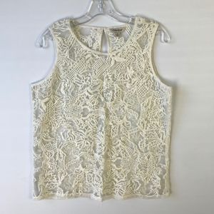 Lucky Brand Embroidered Sheer Blouse #1435
